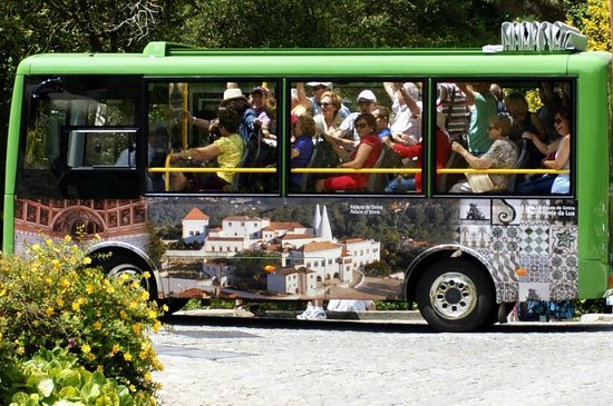 Park and National Palace of Pena: Fun little bus to take you up to the castle for 3 Euros