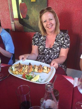 restaurante  A BROA: Fish kebab