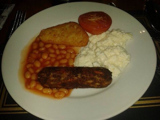 Bay Liberty's on the Square Hotel: A la carte breakfast with cereals , toast , juices , tea and coffee . This is veg b/f