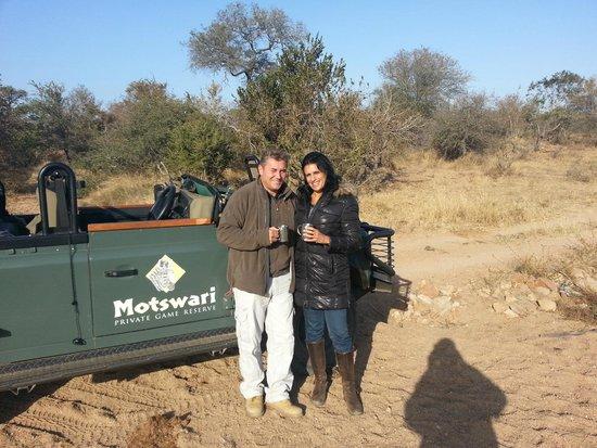 Motswari Private Game Reserve: Paul and me