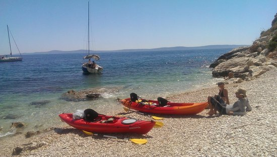 Red Adventures Croatia: Ended up at a beautiful secluded beach while kayaking at Ciovo