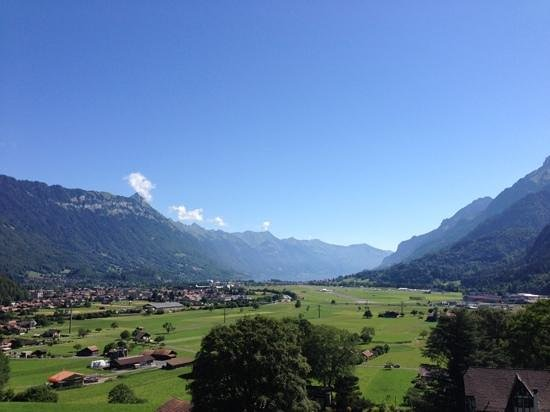 Hotel Berghof Wilderswil-Interlaken: View from balcony