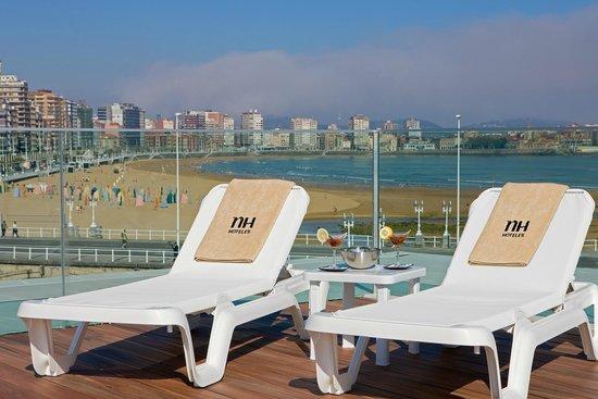 NH Gijón: Hotel Terrace