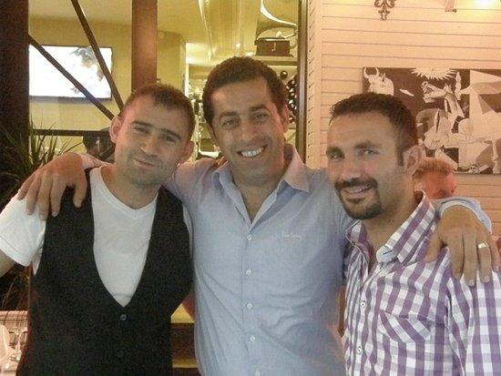 Adora Hotel: Hakan,Bedi and Ugur the top restaurant team