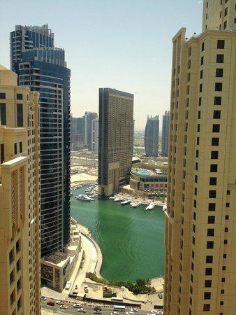 Hilton Dubai The Walk: Marina view from my room