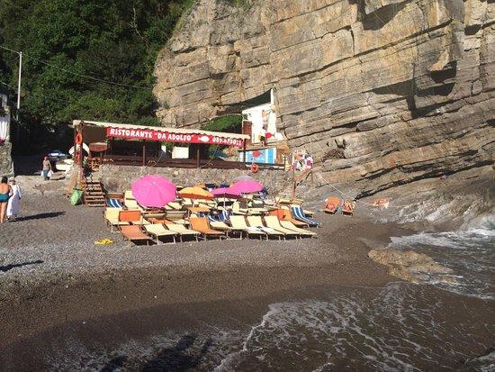 Da Adolfo: Restaurant and beach