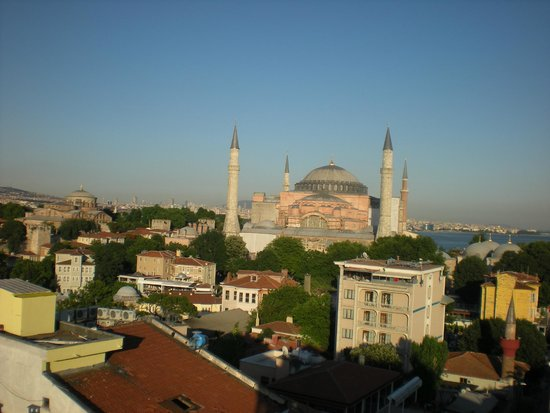 Adamar Hotel: Aya Sophia from roof terrace