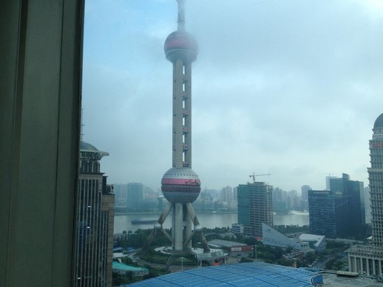 Pudong Shangri-La, East Shanghai: View from my room on the 23rd floor