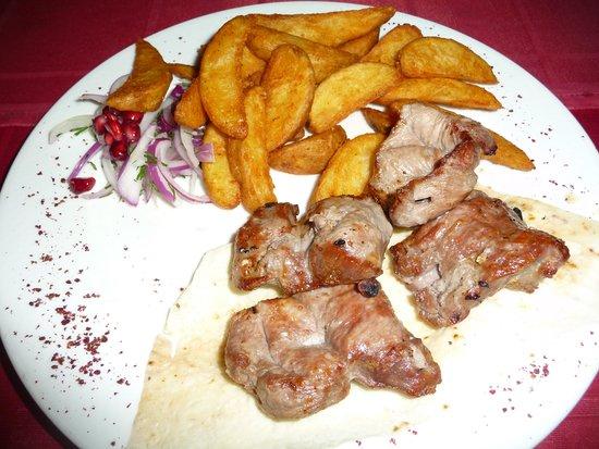 Shashlyk-Mashlyk: Lamb shashlik with McCain Homefries