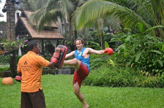 Anantara Bophut Koh Samui Resort: Muay Thai lesson
