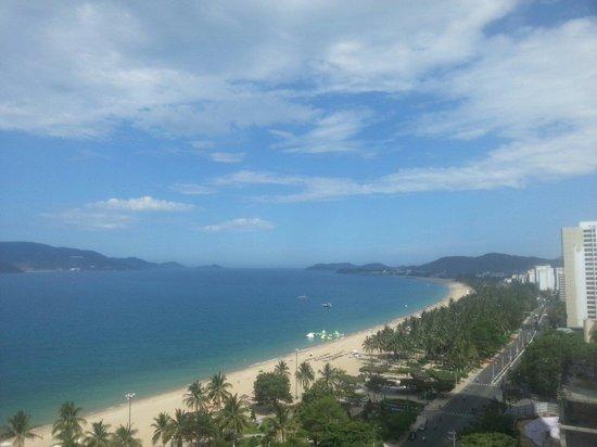 Novotel Nha Trang : Utsikt fra hotellrommet.