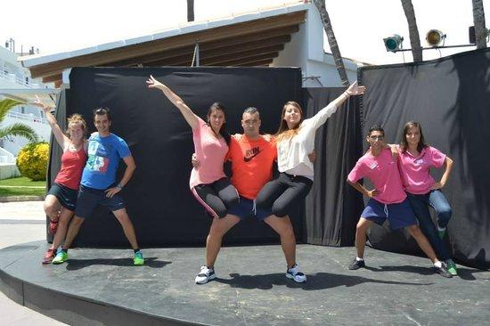 Club Jumbo Palma: Répétition de l'un des spectacle