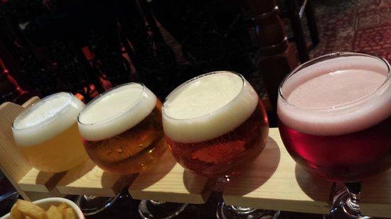 Bierbrasserie Cambrinus: Belgian Beer Taster