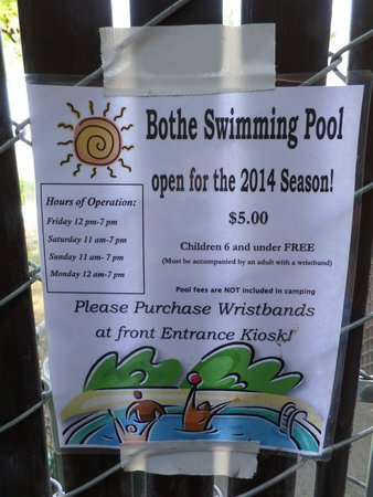 Bothe-Napa State Park: Swimming Pool information Lifeguard on duty and they have a lot of pool toys you can use