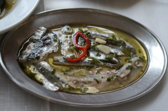 Anchovies in vinaigrette