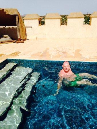 Ksar Char-Bagh: Piscine privée