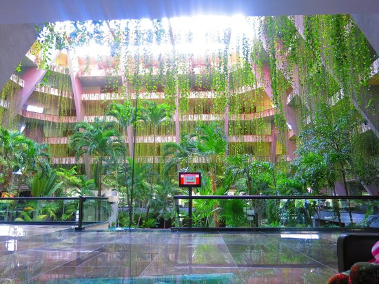 Grand Oasis Cancun: потрясающий сад в холле отеля