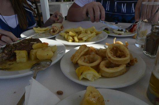 Anemomilos Restaurant: кальмар в кляре