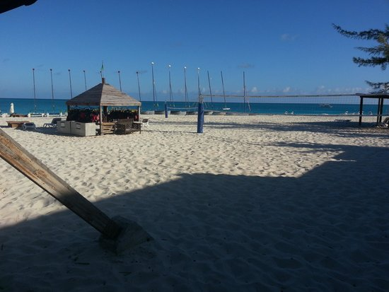 Club Med Turkoise, Turks & Caicos: volleyball courts infront of the sailing shack!