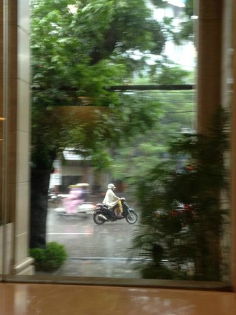 Silk Path Hotel: watching the world go by from the hotel veranda