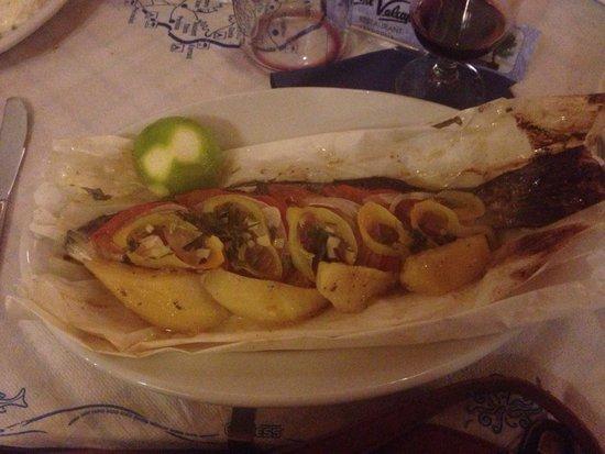 The Volcano Restaurant-Taverna : The sea bass bloomin beautiful x