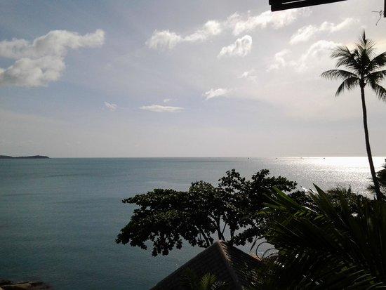Merit Wellness & Mind Retreat Resort Samui : วิวจากระเบียงห้องอาหารยามสาย