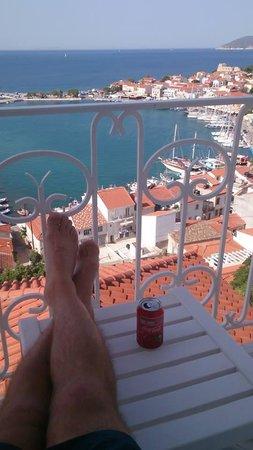 Hotel Hera II: utsikt fra terrasse, view from terrace