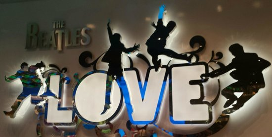 The Beatles - Love - Cirque du Soleil: Signage at the theater