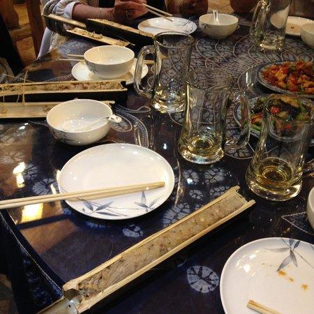 Longji Holiday Hotel : Bamboo rice