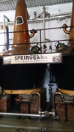Springbank Distillery: The stills.
