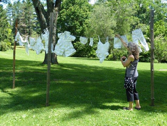 Berkshire Botanical Garden: A wind related sculpture