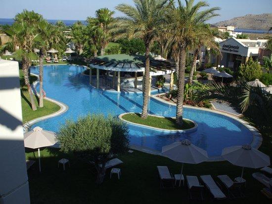 Atrium Palace Thalasso Spa Resort & Villas : View from Sea View Room