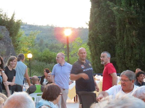 Hotel Terme San Filippo : Cena in terrazza sulla piscina
