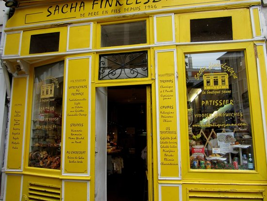 Sacha Finkelsztajn - La Boutique Jaune : Located on the rue des Rosiers .