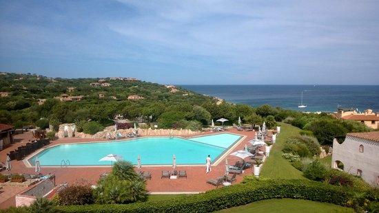 Grand Hotel in Porto Cervo: Aussicht vom Balkon 2. OG