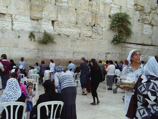 Mur des lamentations : Muchas personas......todos rezan muy concentrados.....