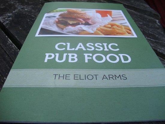The Eliot Arms Restaurant: Menu
