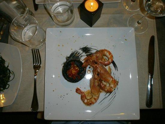 Zibibbo 2.0: sformato di calamari al nero di seppia