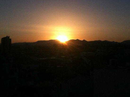 El Clandestino: Couché de soleil vu de la terrasse
