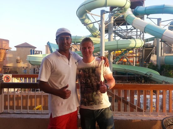 Coral Sea Aqua Club Resort: Me and Mustaffa (the best life guard in Sharm)