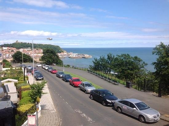 The Crown Spa Hotel: the view of Scarborough town from our balcony