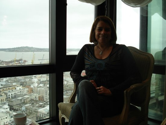 Radisson Montevideo Victoria Plaza Hotel: Vista do restaurante do Hotel