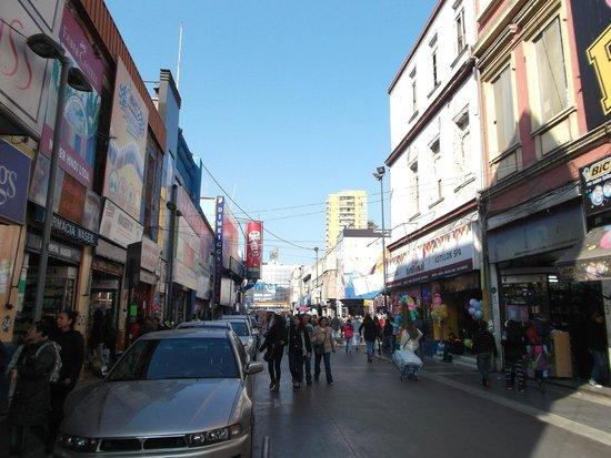 Santiago de Chile, Barrio Meiggs. Mitad Calle, Mitad Paseo.