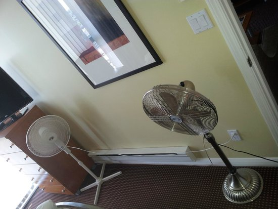 Executive Hotel Vintage Park: Fans because of broken AC