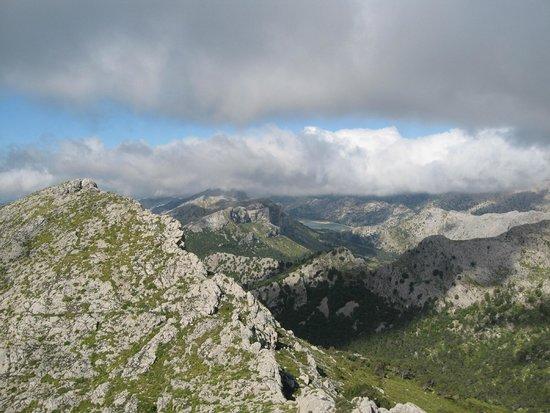 Serra de Tramuntana: Puig Major and Gorge Blau from Massanella