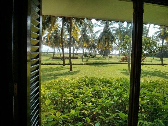Taj Exotica Goa: View from the garden view villa type room ground floor