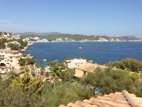 Hotel Petit Cala Fornells: View from the rooftop terrace of my bungalow