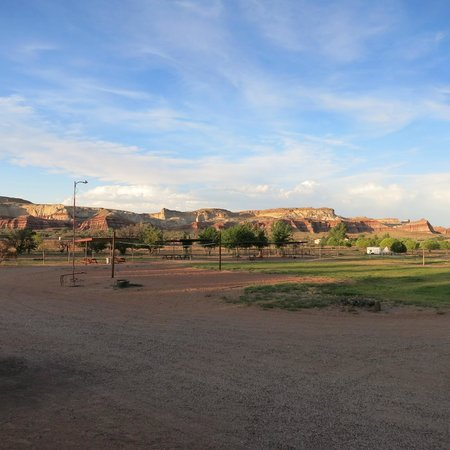 Paria Canyon Guest Ranch: View from the front porch where we were served dinner.