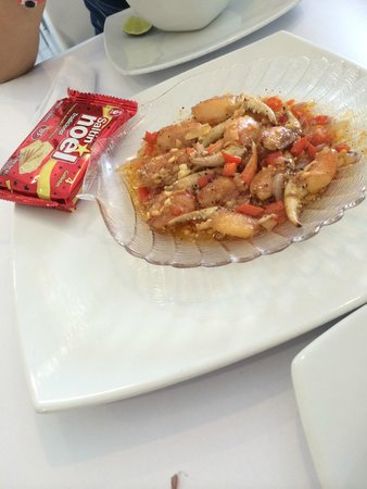 Restaurante Capitan Mandy : Crab pincers (claws)! Amazing, and the souce.....