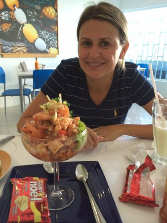 Capitan Mandy: Local appetizer... Ceviche, which is raw seafood